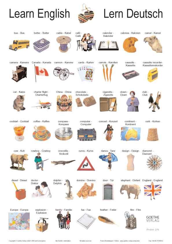 learn english amp lern deutsch poster plakate